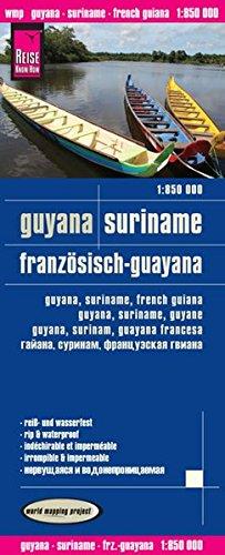 Reise Know-How Landkarte Guyana, Suriname, Französisch-Guayana (1:850.000): world mapping project