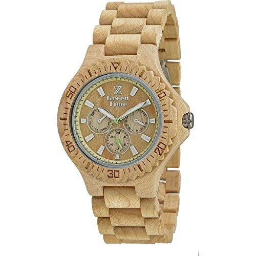 Herren Multifunktions Armbanduhr Green Time Kollektion Multifunktionsgerät Trendy Cod. zw014a