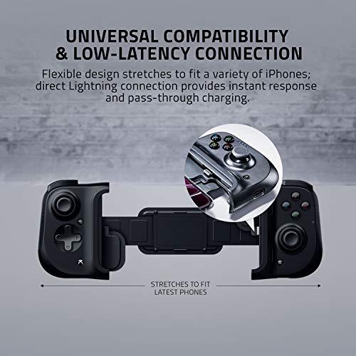 Razer Kishi für iOS (iPhone) – Smartphone Gaming Controller (USB-C Anschluss, Ergonomisches Design, Individuelle Passform, Analog-Stick, Ultra niedrige Latenz) Schwarz - 3