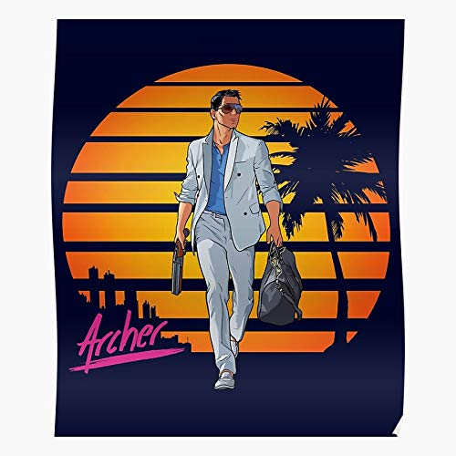 Vice City 1980S Sterling 80S Fx Archer Best Wall Art for Home Decoration 16x24 Inches