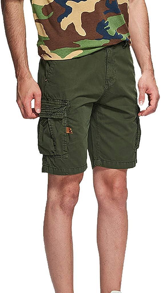 MODOQO Men's Cargo Short Pants Multi Pockets Causal Trouser