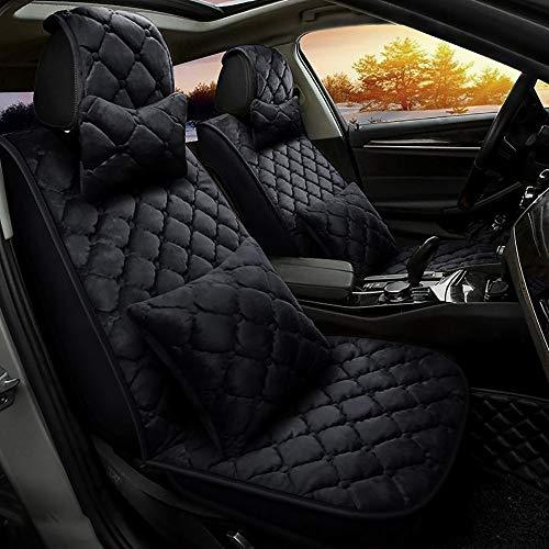 XAGB Plush Autostoelkussen voor auto, Universele Car Voorkant Achterbank Mat Zacht Warm Herfst Winter Kussen Cover Gift - (Rode Wijn)