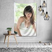 2021 沢口 愛華(さわぐち あいか) タペストリー ファッションの絶妙な印刷リビングルームの入り口寝室の背景壁の装飾カスタマイズされた壁掛け布 (152*102cm)