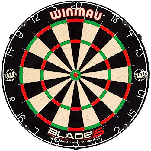 GOKarli Winmau Blade 5 Bristle Dart Board Dartboard Turnierboard Dartscheibe mit Abwurflinie Oche