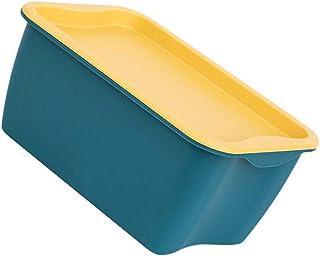 Cabilock 6Pcs Bacs de Rangement en Plastique avec Couvercles Boîte de Rangement pour Panier de Rangement en Plastique pour...
