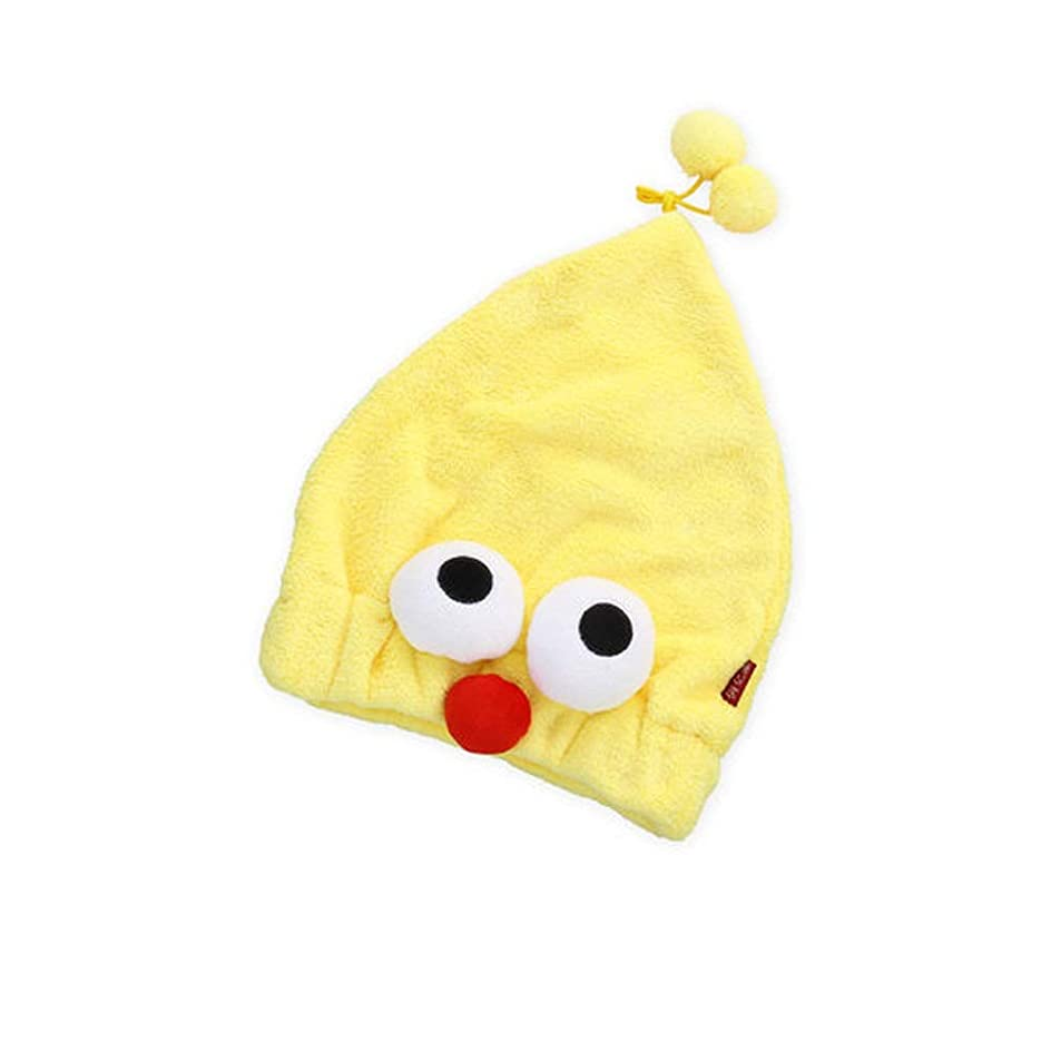 ピクニックけん引ホテルHEHUIHUI- シャワーキャップ、ダブルシャワーキャップ、レディース弾性防水シャワーキャップ HHH (Color : Yellow)