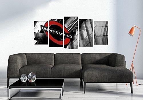 Sos Print Cuadros en lienzo _ impresión sobre lienzo enmarcados_Ciudad_150x70_Underground_Londres