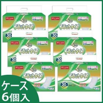 エムズワン ケース ライフラッグ フラットタイプ おむつカバーに合わせて使うタイプ (30枚入)×6個