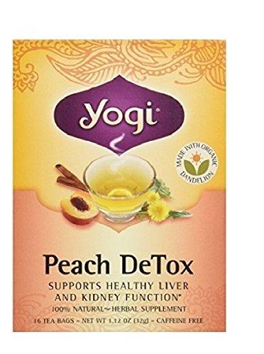 Yogi Tea 16 Tea Bags Peach Detox