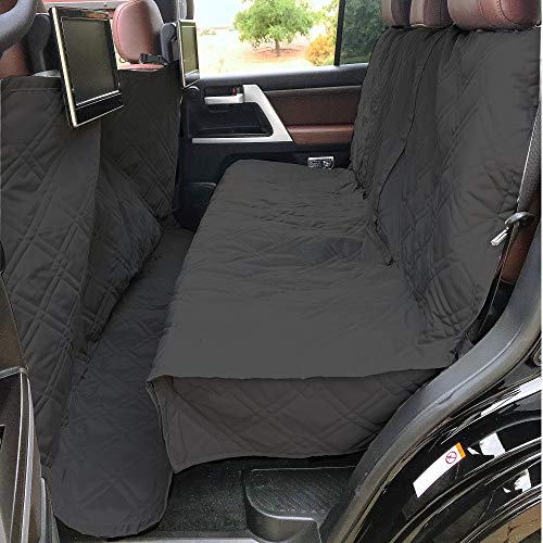 Formosa Covers Deluxe Quilted and Padded Dog Car Back Seat Cover with Non-Slip Back Best for Car Truck and SUV - Travel with Your Pet Mess Free - Universal Fit 56'x94', Black