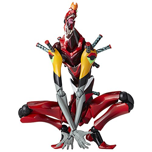Noname KAIYODO - Revoltech Evangelion Evolution 016 EVA-02 The Beast 14 cm Action Figure - Action FiguresAction Figures