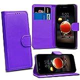 LG K8 2018 LG K9 Cases - Purple Premium Wallet Leather Flip