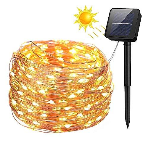 WYFC 10m guirlandes 100 LEDs SMD 0603 1Set Support de Montage Chaud Blanc/Froid Blanc/Bleu imperméable/Solaire/Nouveau Design Solar Powered/2 V 1 Set/IP65