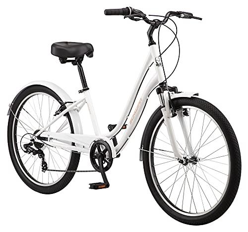 Schwinn Regioneer Womens Hybrid Comfort Bike, 26-Inch Wheels, 7 Speed, 16.5-Inch Steel Frame, Alloy Linear Brakes, White