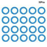 czos88 - Targhetta identificativa per Chiave Auto 20/24/32 Pezzi, in Silicone Elastico, 20 Pezzi, Colore: Rosso, Blu, 20 Pezzi