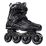 Ayes, pattini a rotelle classici da uomo e donna, in linea, regolabili, per bambini e ragazze, colore nero, 43