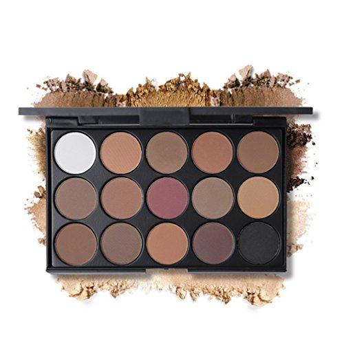 JasCherry 15 Farben Schimmern Lidschatten Makeup Paletten - Sleek Pulver Augenschatten Make Up Etui Box - Satte Farben Kosmetik Eyeshadow Palette