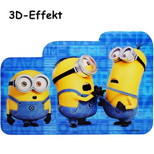 alles-meine.de GmbH 2 Stück _ 3D Effekt _ Unterlagen - Minions - ich einfach unverbesserlich - als Tischunterlagen / Platzdeckchen / Malunterlagen / Knetunterlagen / Eßunterlagen..