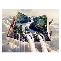 ダイアモンドペインティング ダイヤモンド絵画ブック滝の風景フルスクエアダイムンドモザイククロスステッチ家の装飾ダイヤモンド刺繍風景 (Size : Square 15x20cm)