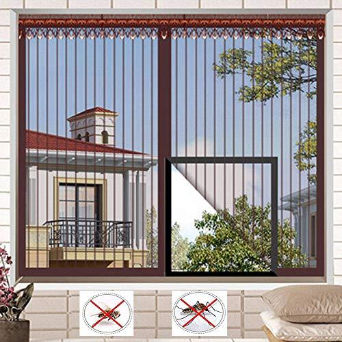Vicfan raamfolie met muggengaas, magnetisch afgeschermd, gelijkmatige lijm, vol frame, haak en cyclus, automatische sluiting, afscherming van het raam