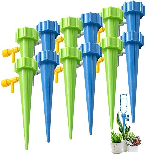 Inscape Data Self Watering Spikes Automatic Plant Waterer Adjustable Water Volume Drip System product image