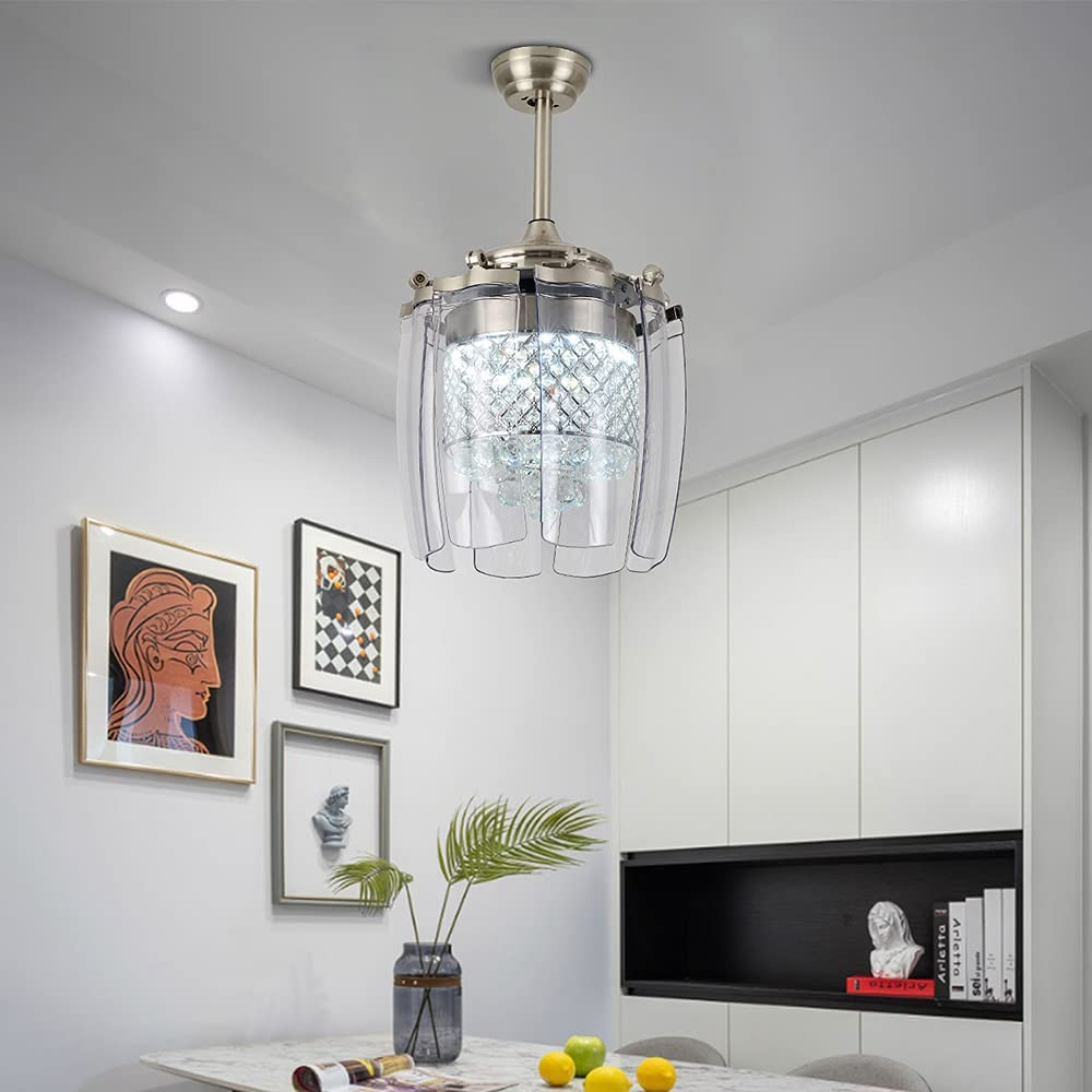 42 Inch Modern Crystal Portland Mall Regular store Ceiling Fan Light Design Kit Creative Cei