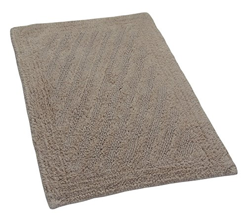 Castle Hill London Linear Reversible Bath Rug, 17 by 24-Inch, Natural