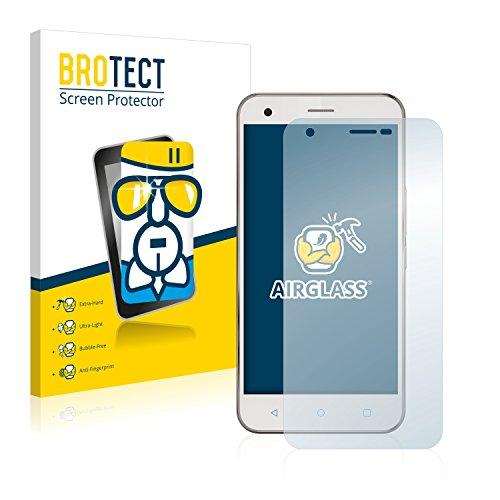 BROTECT Panzerglas Schutzfolie kompatibel mit Vodafone Smart Ultra 6 - AirGlass, 9H Festigkeit, Anti-Fingerprint, HD-Clear