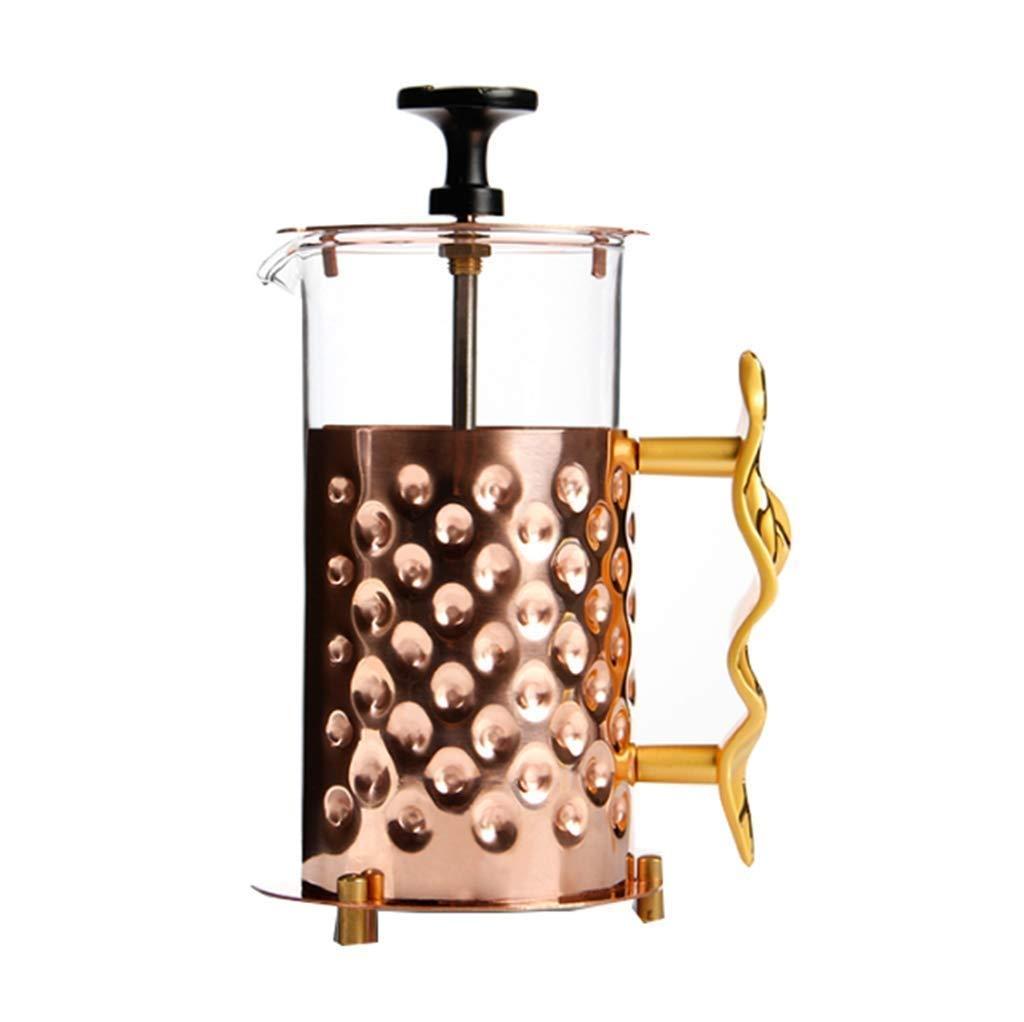 Xiaozou Cafetera/cafetera de Cobre casera/Filtro/Cuchara medidora, plástico, Transparente: Amazon.es: Hogar