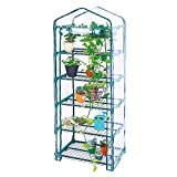 Worth Garden 5 Tier Mini Greenhouse with Cover, 27' Long x 19' Wide x 75' High, Indoor Outdoor Kit for Winter Zipper Door Seedlings & Seed Propagation Plant Growing