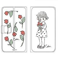 WHITENUTS Caho Rakuten Hand ケース 手帳型 薄型プリント手帳 チューリップA (ch-031) TC-C1440818/ML