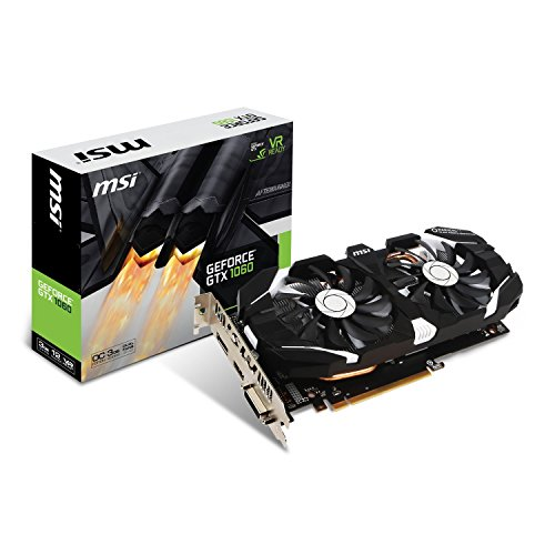 MSI NVIDIA GTX 1060 3GT OC Grafikkarte (HDMI, DP, DL-DVI-D, 2 Slot Afterburner OC, VR Ready, 4K-optimiert)