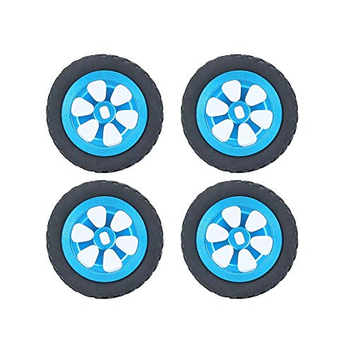 Cocosity Neumático RC, Neumático de Goma Accesorio RC Neumático de Rueda RC Duradero Buje de Aluminio Se Adapta a neumático de(Blue K989-53T A)