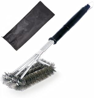 """HOWADE BBQ Grill Brush STAINLESS STEEL 18"""" Barbecue Cleaning Brush with Wire Bristles and Soft Comfortable Handle - Perfec..."""