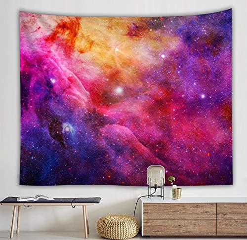 WERT Tapiz de Galaxia romántico Colgante de Pared Mandala Cielo Estrellado Tapiz psicodélico Dormitorio decoración Tapiz Tela de Fondo A15 130x150cm