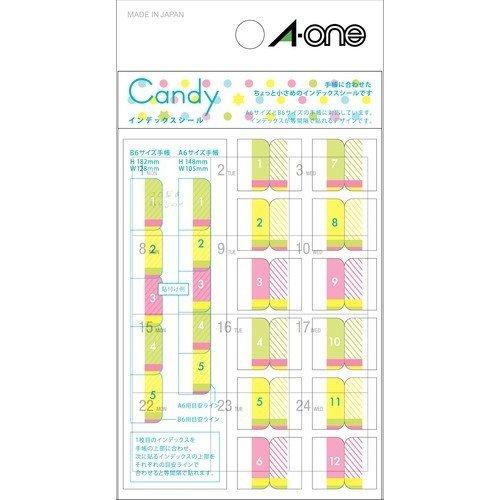 エーワン 手帳用シール キャンディ インデックスシール 05241