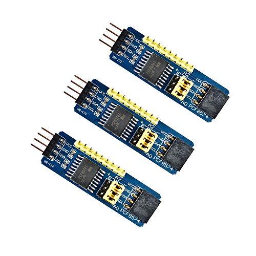 Comimark 3Pcs PCF8574 PCF8574T I2C 8 Bit IO GPIO Expander Module for Arduino & Raspberry Pi
