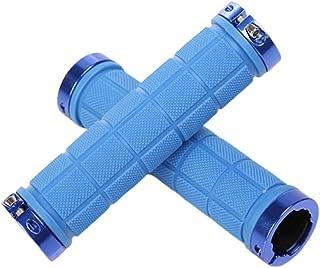 BESPORTBLE 2 stuks rubberen fietsstuurgrepen racefiets anti-slip stuurhandgrepen voor mountainbike fiets racefiets (blauw)
