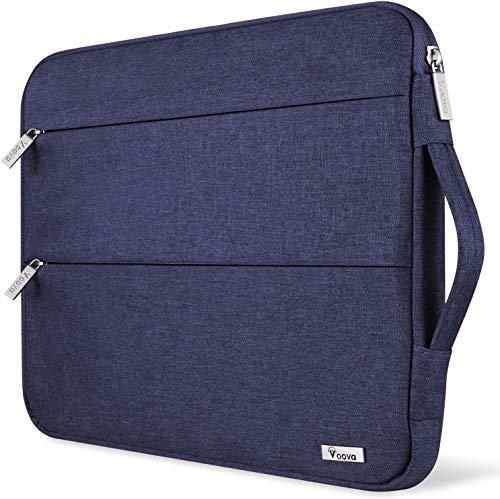 Voova Laptop Hülle Tasche Tablet 11 11.6 12 Zoll mit Griff,wasserdichte Laptoptasche 12 Zoll Sleeve für Surface 7 6/Chromebook/MacBook air/IPad pro 12.9 mit 2 Taschen,Notebook Laptophülle Case-Blau
