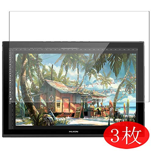 【3 Pack】 Synvy Screen Protector for HUION GT-190 19' TPU Flexible HD Clear Case-Friendly Film Protective Protectors [Not Tempered Glass] New Version