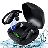 OUSFOT Bluetooth イヤホン 完全ワイヤレスイヤホン Bluetoothヘッドセット Hi-Fi高音質 瞬時接続 自動ペアリング Bluetooth5.0技術 LEDディスプレイ 残量表示 耳かけ 大容量バッテリー 充電ケース付き 最大680時間待ち受け マイク内蔵 6Dステレオサウンド ノイズキャンセリング AAC対応 IPX7防水 両耳 左右分離型 ブルートゥース イヤホン 音量調整 ハンズフリー通話 技適認証済 iPhone/iPad/Android対応