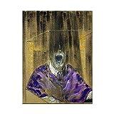 Kemeinuo Cuadros Modernos Francis Bacon Artista Famoso Cartel de Personaje Abstracto e impresión decoración Arte de Pared 60x90cm
