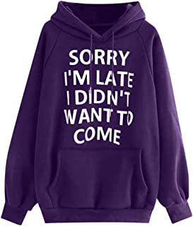 LOPELY Alphabet Printed Hoodie Sweatshirt Kanga Pocket Top Plus Size Winter Pullover Tops Solid Color Quality Stretch Hoody