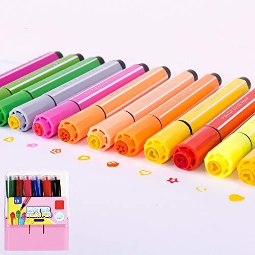 Bolígrafo de acuarela Sello no tóxico para niños Bolígrafo de acuarela lavable Juego de bolígrafos de pintura de graffiti (Juego de 18 colores)