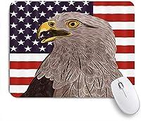 NINEHASA 可愛いマウスパッド アメリカンフラッグイーグルクール ノンスリップゴムバッキングコンピューターマウスパッドノートブックマウスマット