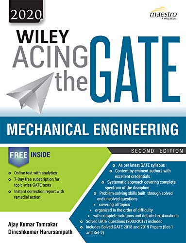Wiley Acing the GATE: Mechanical Engineering, 2ed