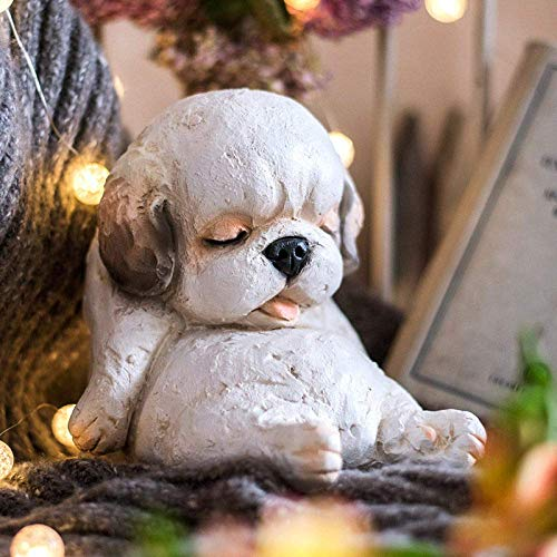 ZYL-YL Statue Sculpture Figurine Statuette,Modern Pet Dog Statue Resin Decoration Grocery Garden Home Living Room Bedroom Resin Desk Decoration Business Gifts