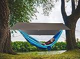 Unigear Zeltplane, Tarp für Hängematte, wasserdicht mit Ösen + 6 Erdnägel+ 6 Seilen, Regenschutz Sonnenschutz für Ourdoor Camping MEHRWEG (Kaffee-300 x 400cm) - 2