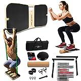 FlexFixx Portable Home Gym Workout Kit - Full Body Workout Resistance Band Set & Fitness Balance...