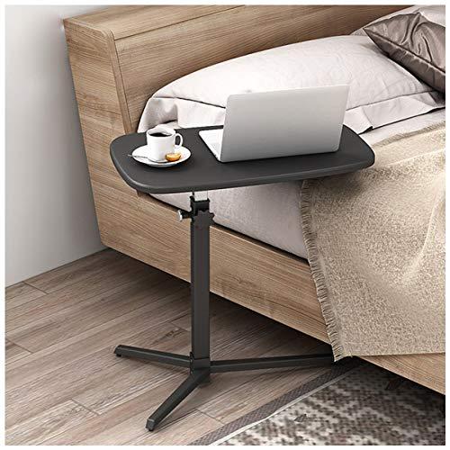 Laptop Table Tavolino Altezza Regolabile,Usato per Soggiorno Camera da Letto Balcone Familiare Divano Laterale (Color : Black)